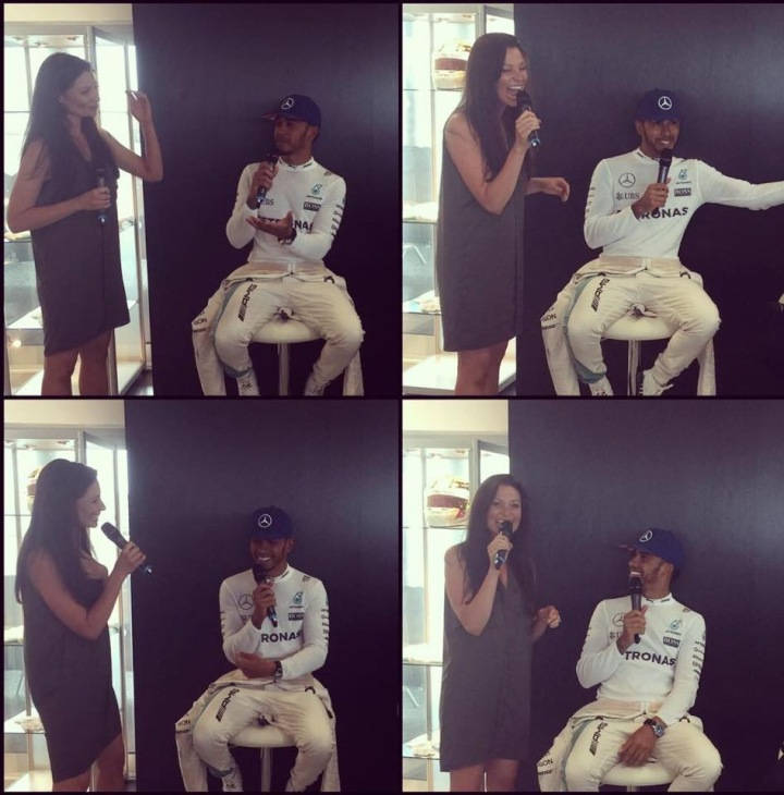 Hamilton on form, both on and off the track!